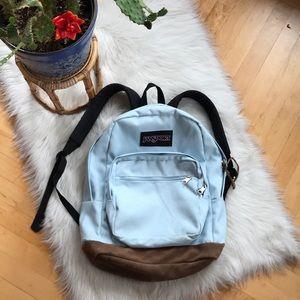 Jansport original backpack w/ leather details